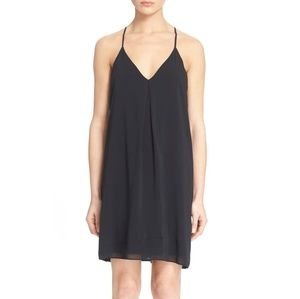 Alice + Olivia Fierra Y-Back Silk Slip Dress S